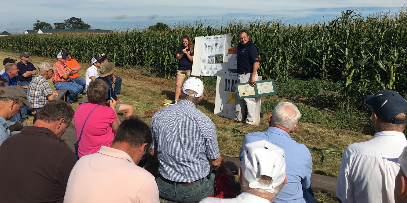 Researcher presenting at Agronomy Day