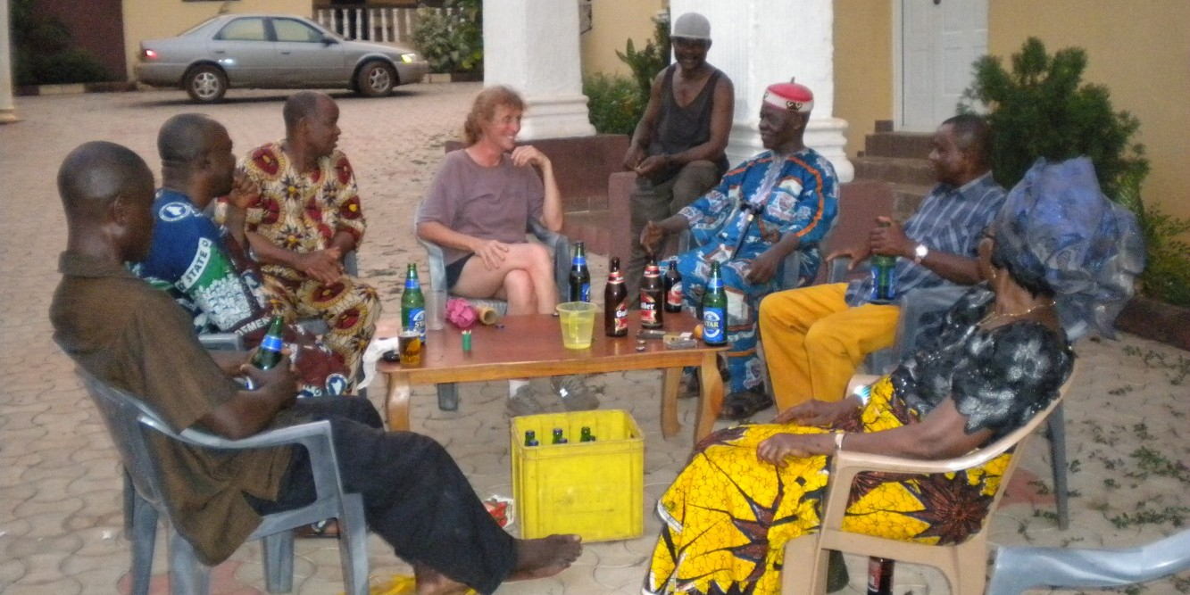 Ann-Perry Witmer meets with village elders in Adu Achi, Nigeria