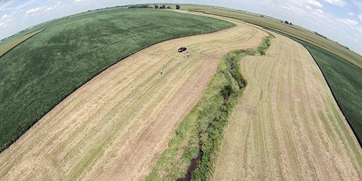Aerial view buffer strip