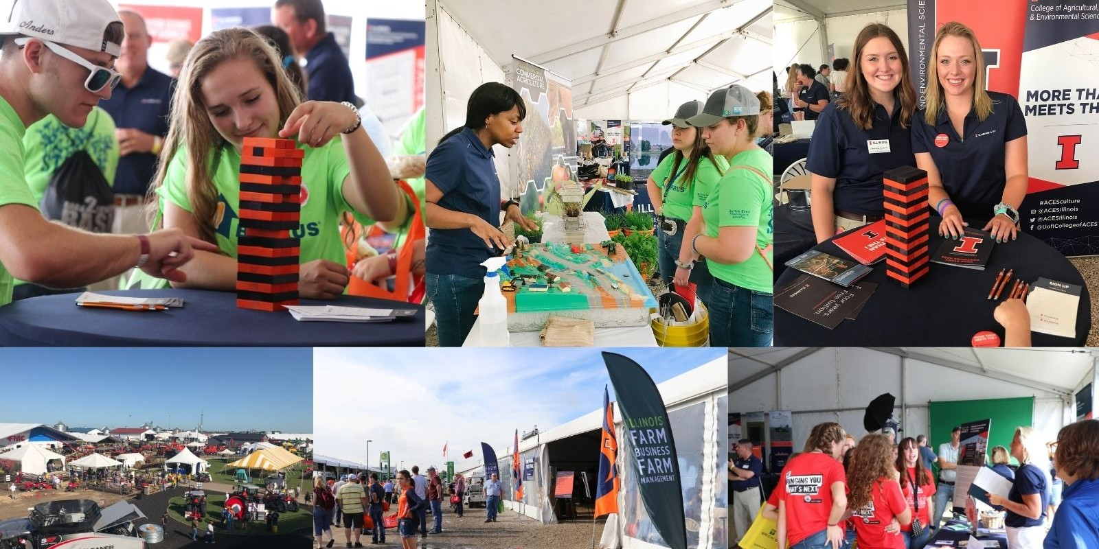 collage of activities at Farm Progress Show