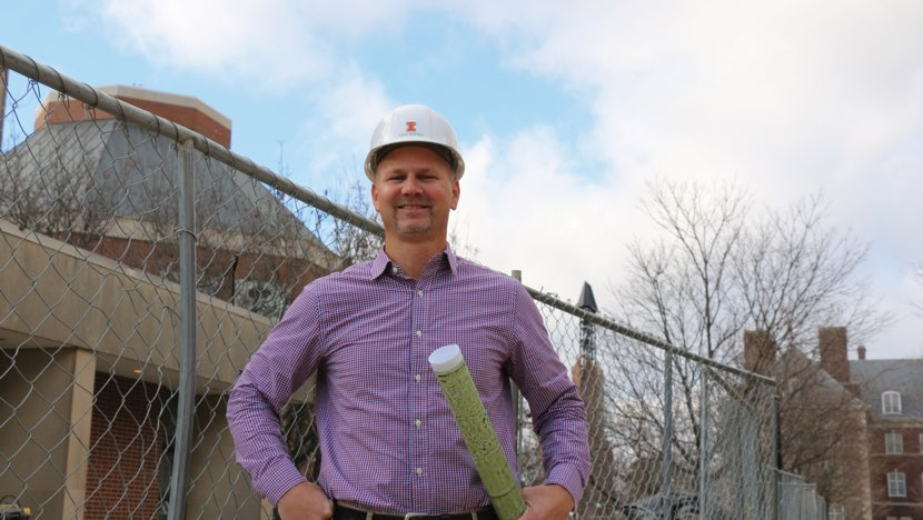 Photo of a man wearing a hard hat