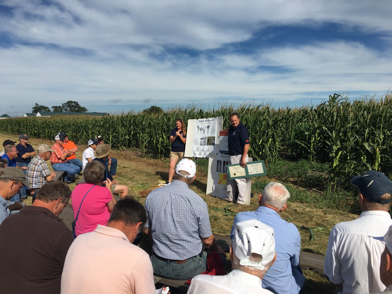 Researchers presenting at past Agronomy Day event
