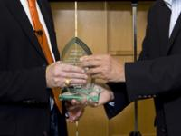 The presenting of an award