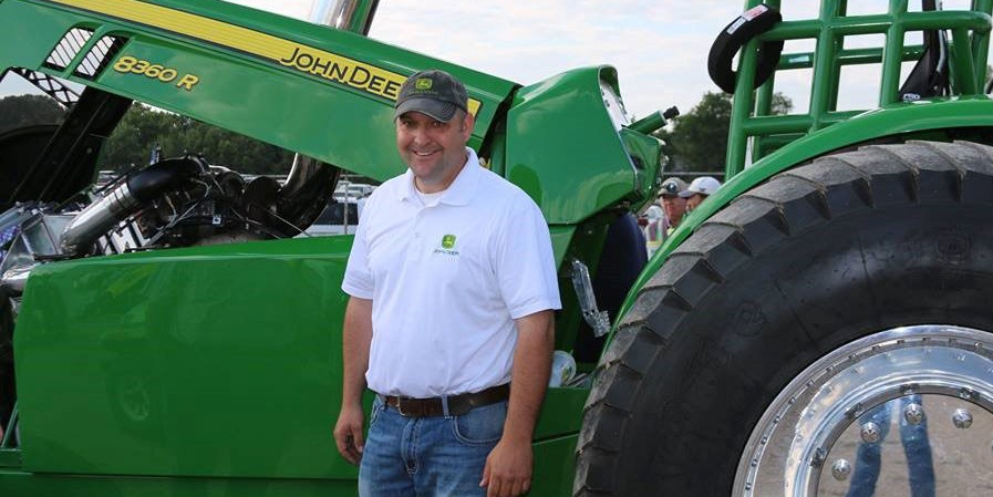 Jay Haning with tractor